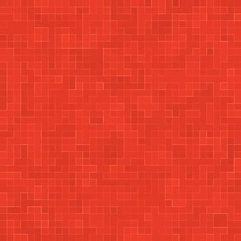 Verre céramique rouge carreaux colorés composition mosaïque de fond