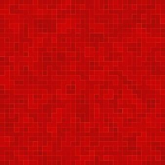Verre céramique rouge carreaux colorés composition mosaïque de fond.