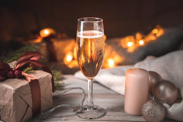 Un verre de champagne o