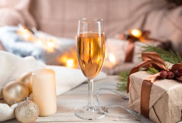 Un verre de champagne