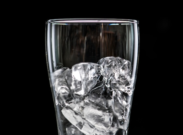 Verre avec glace photo macro
