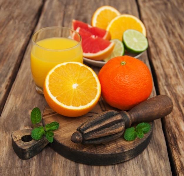 Verre de jus d'orange