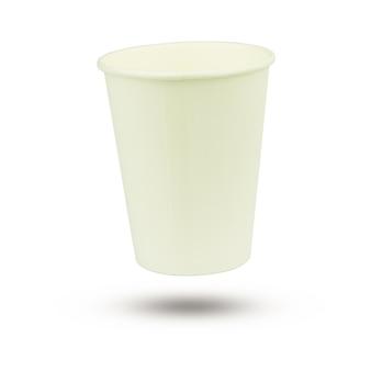 Le verre de papier est blanc
