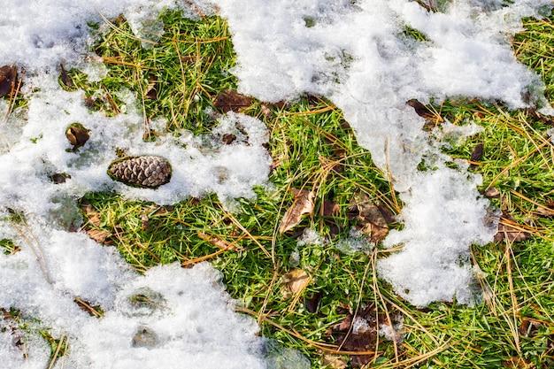 Verre recouvert de neige