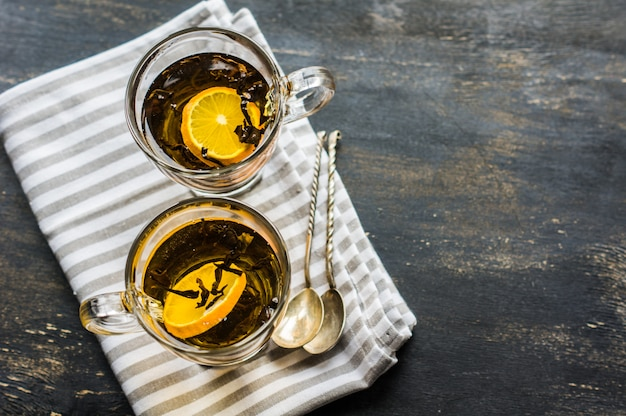 Verre de thé au citron