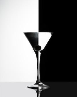 Verre transparent avec liquide
