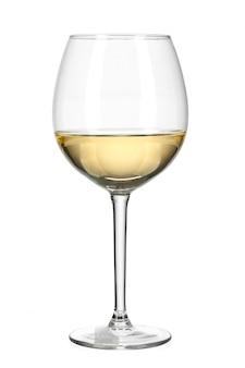 Verre à vin isolé