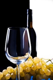 Verre à vin raisins
