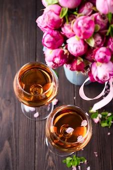 Verres à bouquet et à vin