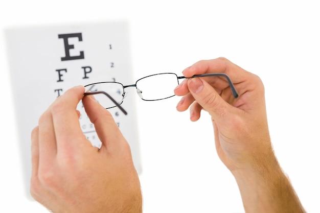 Les verres ont tenu jusqu'à lire le test d'oeil