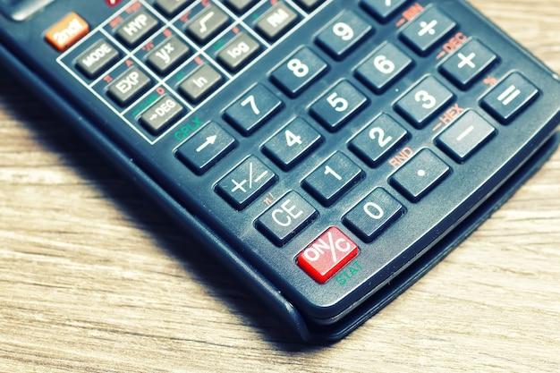 Verres de table calculatrice