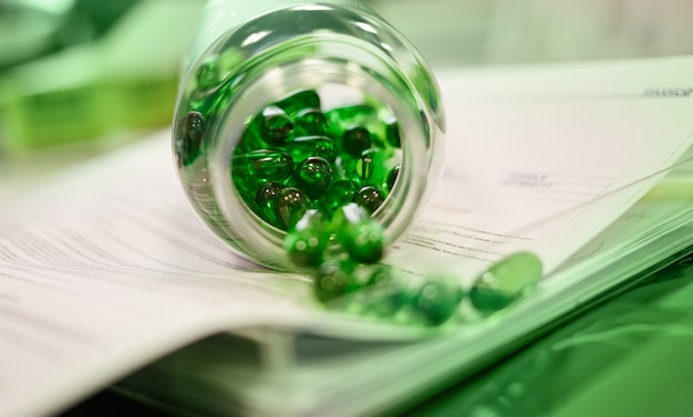 Vert clair naturel acide gras cla softgels perte de graisse