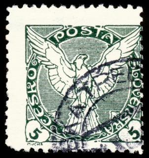 Vert faucon timbre