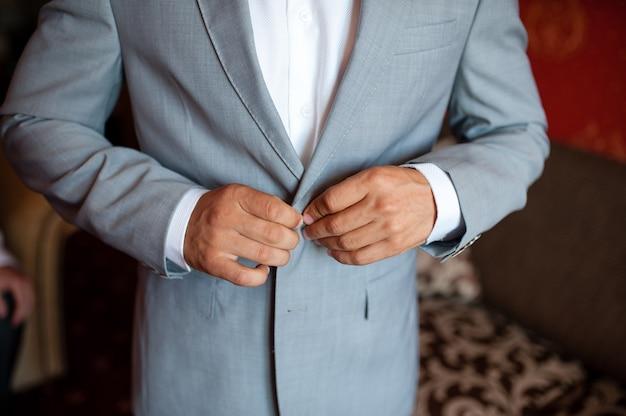 La veste bouton homme
