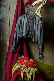 Veste en cuir pour femme
