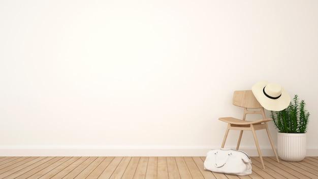 Vestiaire ou oeuvre de studio et espace pour les œuvres - rendu 3d