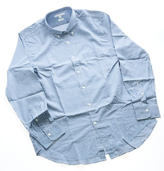 Vêtement matériau occasionnel bleu d'usure