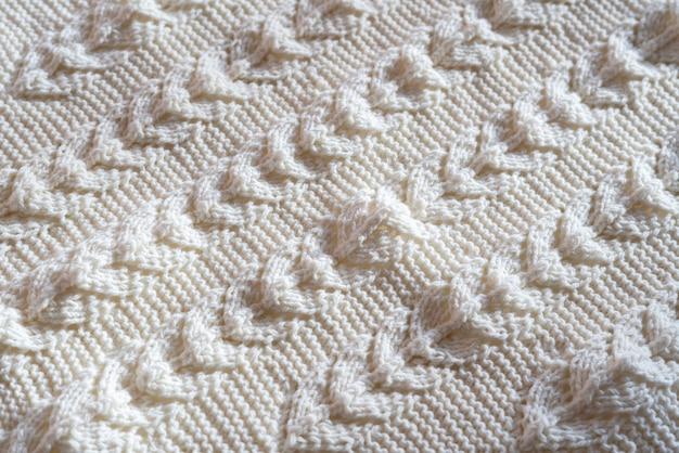 Un vêtement textile à motif de laine, artisanat en tricot