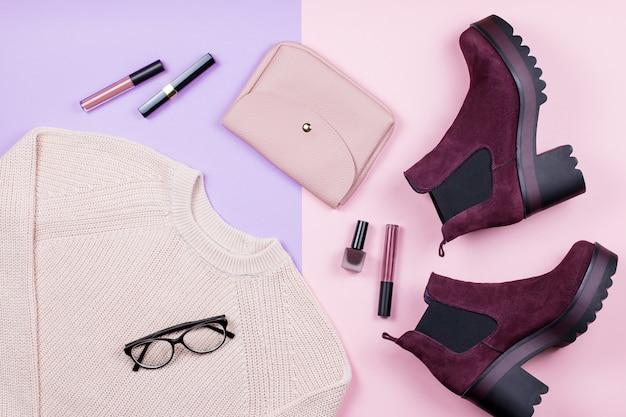 Vêtements et accessoires d'automne pour femmes sur pastelable.