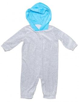 Vêtements bébé isolés sur fond blanc