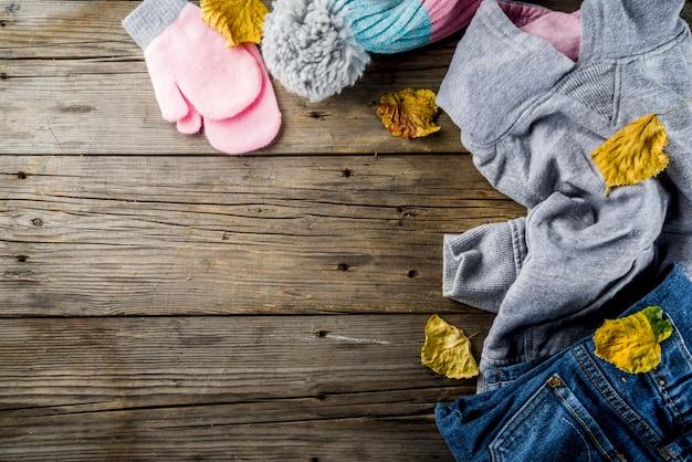 Vêtements chauds d'automne pour fille
