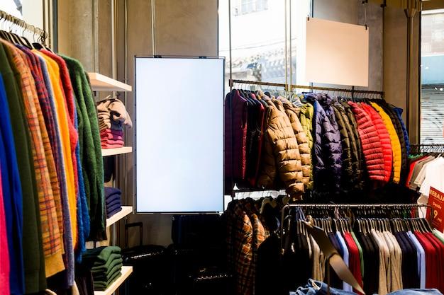 Vêtements dans un magasin de vêtements