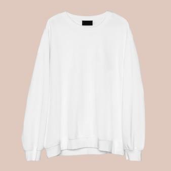 Vêtements streetwear unisexes blancs simples à col rond