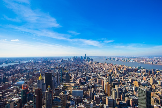 Vew de manhattan de l'empire state building, new york