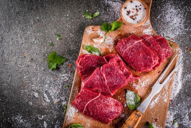 Viande. boeuf, veau. filet cru frais, sans os