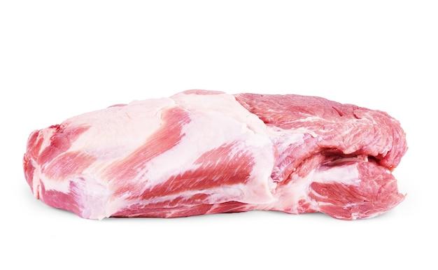 Viande crue isolée sur blanc