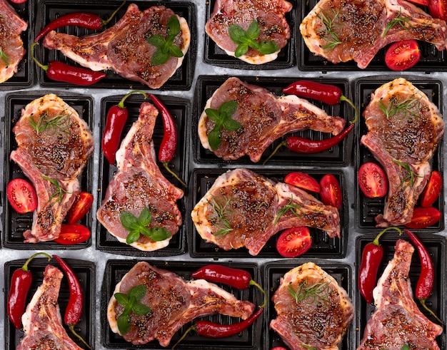 Viande crue, steak de boeuf