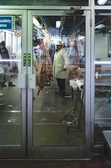 Viande de porc au marché de la viande