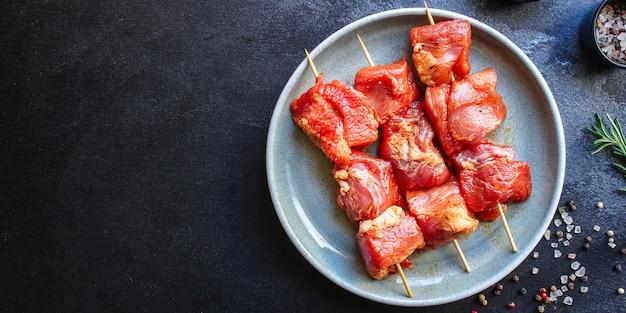 Viande de porc ou de boeuf crue