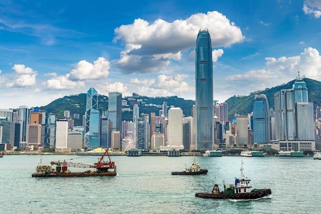 Victoria harbour à hong kong, chine