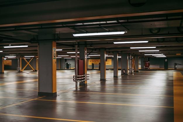 Vide les parkings des centres commerciaux en période d'urgence mondiale contre les coronavirus