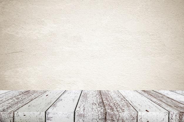 Vide point de vue vintage sur bois blanc