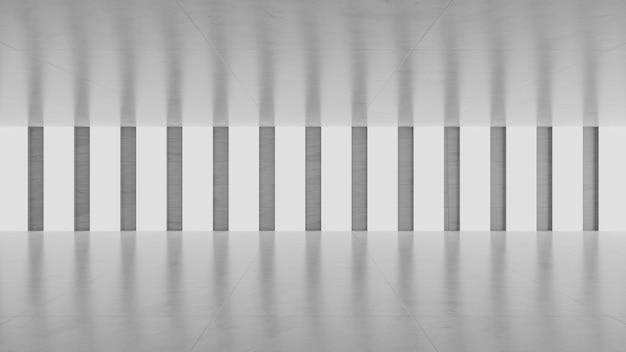 Vide salle de béton gris