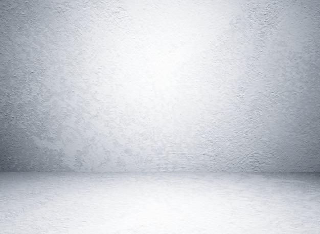 Vide salle de ciment gris en vue en perspective, fond grunge