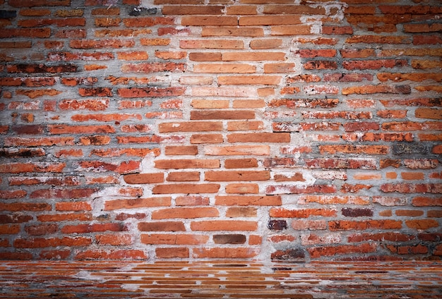 Vide vieux mur de briques vintage texture