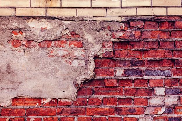 Vide vieux mur de briques
