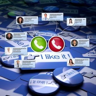 Vidéoconférence dans un environnement de médias sociaux