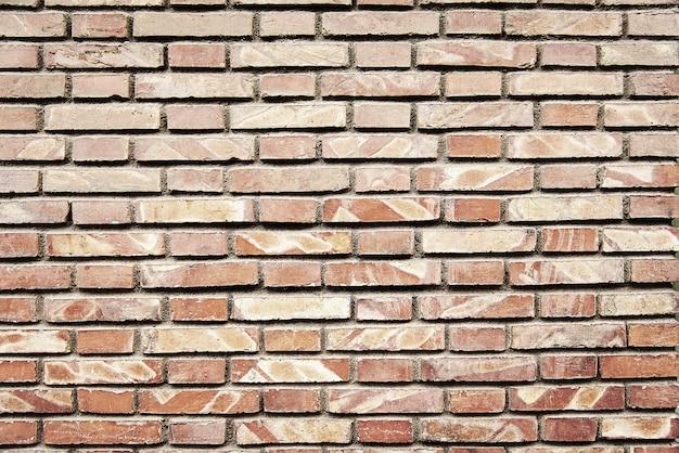 Vieille brique rouge peint texture de fond de mur