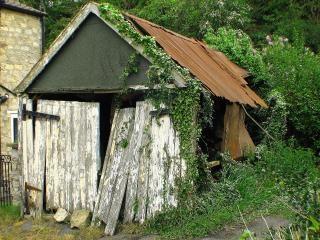 Vieille cabane, le métal
