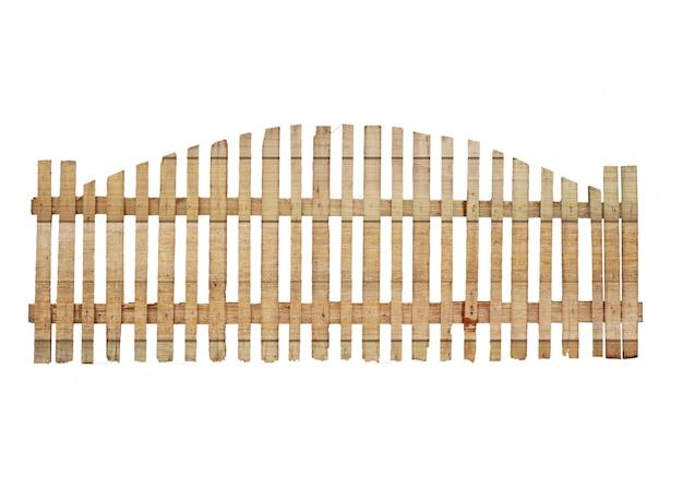 Vieille clôture en bois isolée