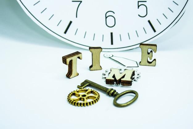 Vieille horloge sur un mur