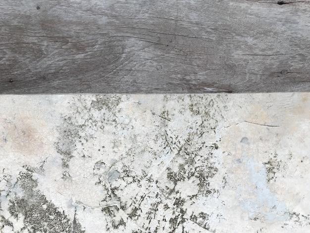 Vieille planche de bois avec utilisation de texture de mur de ciment pour l'affichage des produits