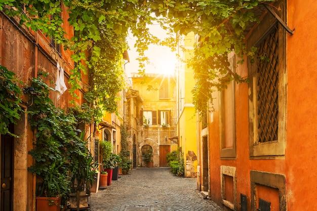 Vieille rue du trastevere à rome