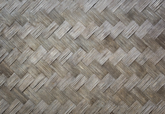 Vieille texture en bois de bambou pour le fond