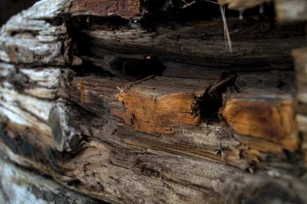 Vieille texture décorative en bois de dormeur en bois