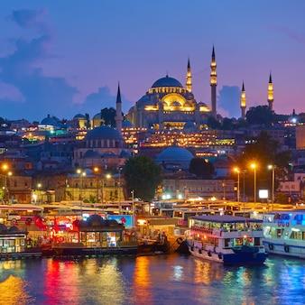 Vieille ville d'istanbul - quartier de fatih et la mosquée sã¼leymaniye, turquie